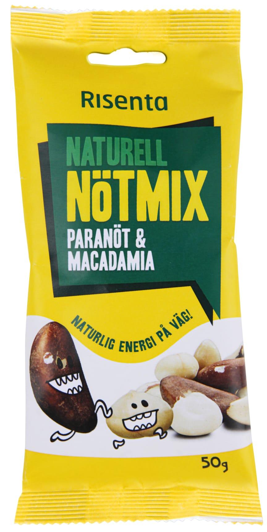 Naturell Nötmix paranöt och macadamia