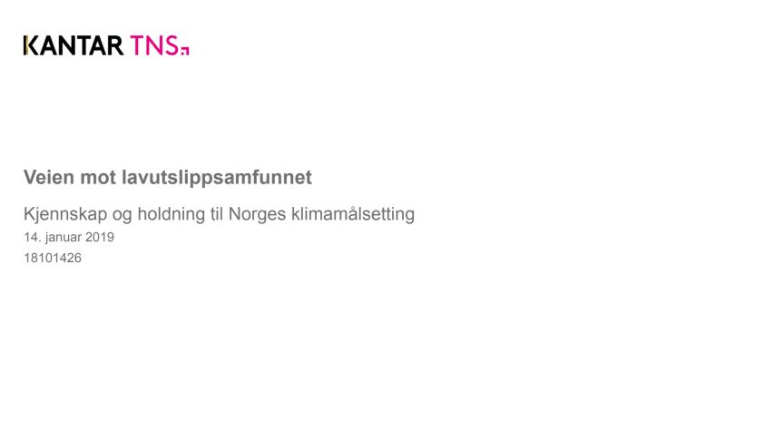 Spørreundersøkelse om Norges klimamål