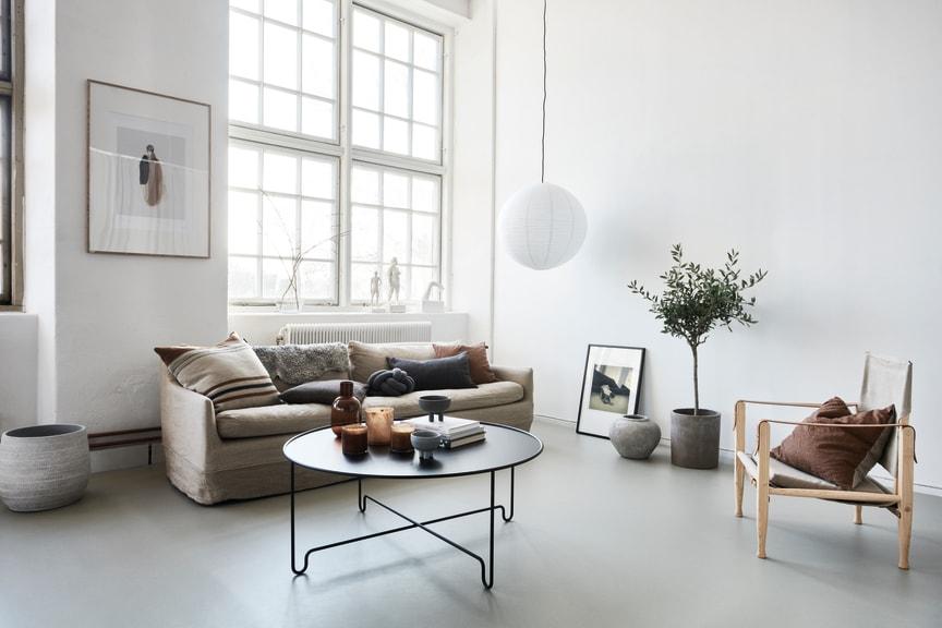 Marmoleum Concrete i vardagsrum