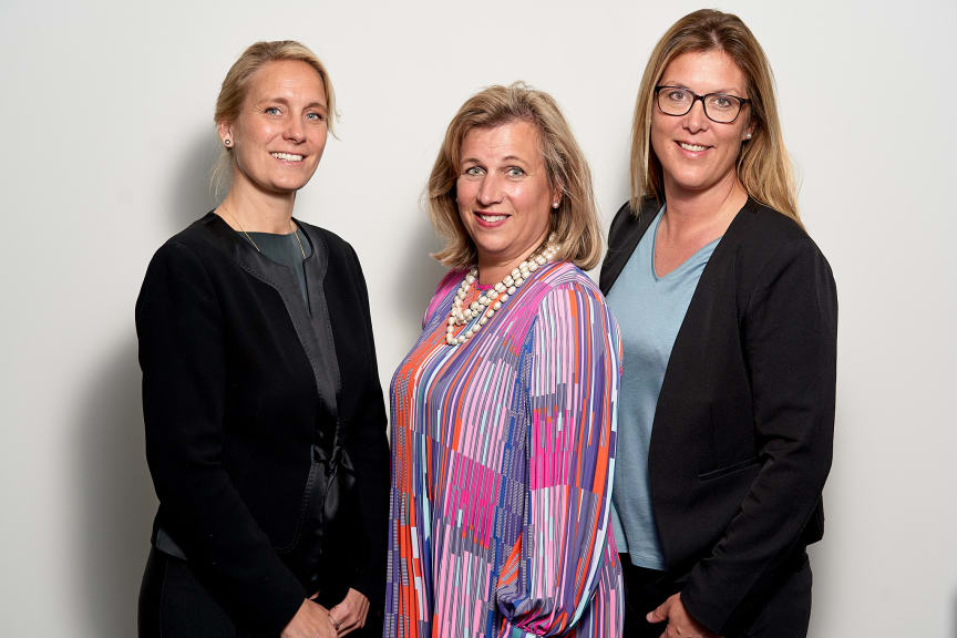 Anna Omstedt, Viveca Hansson Gidlund och Sara Banegas.