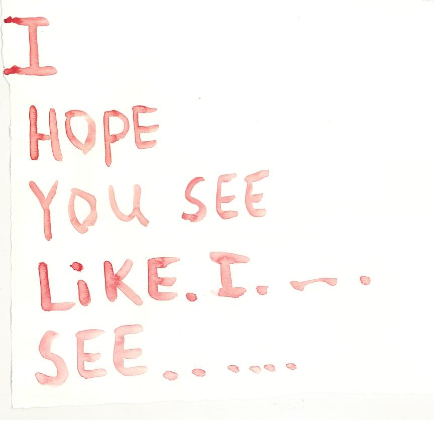 Jeppe Hein, akvareller, Im right here right now, 2010/2011. Courtesy of Johann König, Berlin and 303 Gallery, New York.