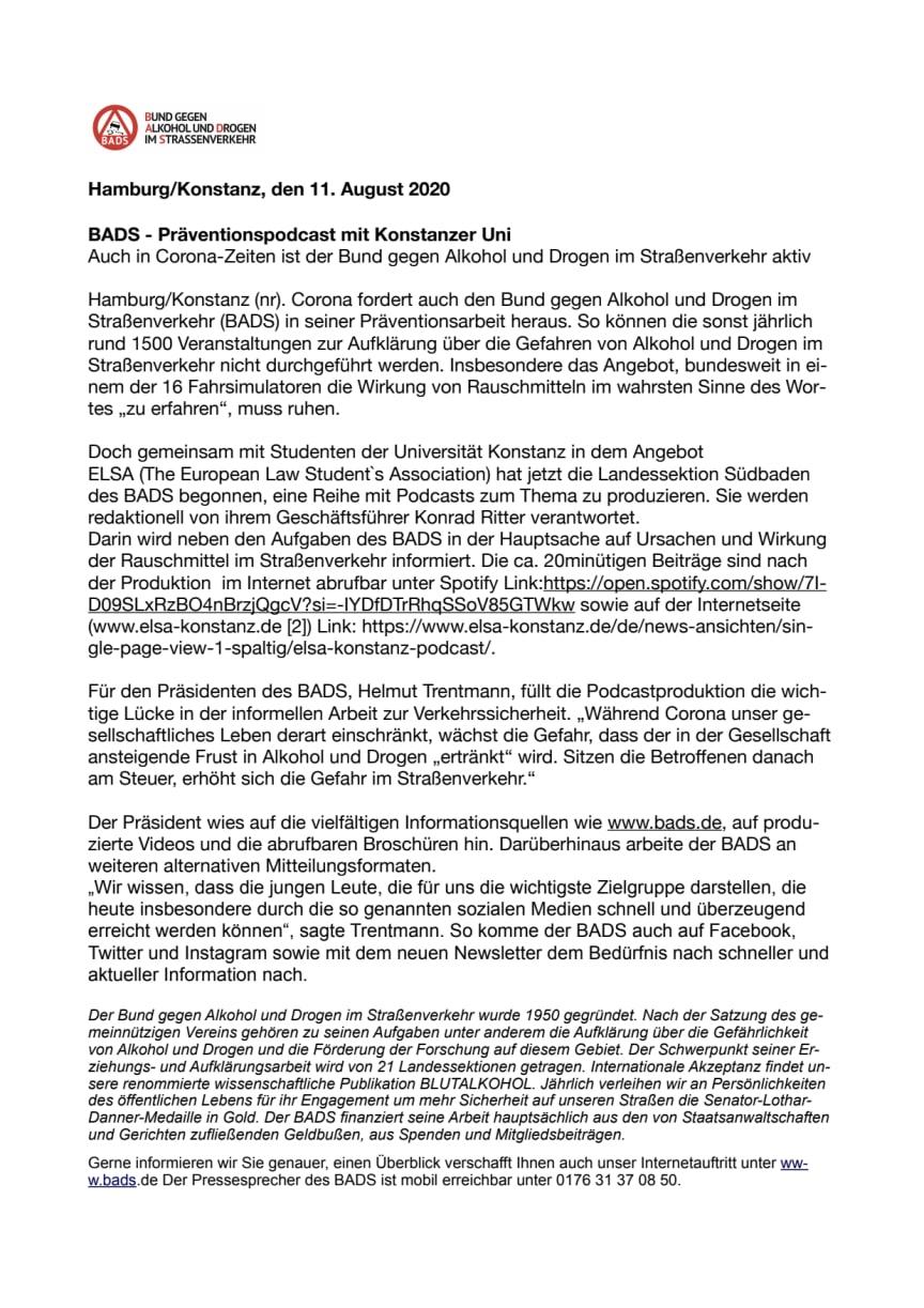 BADS - Präventionspodcast mit Konstanzer Uni