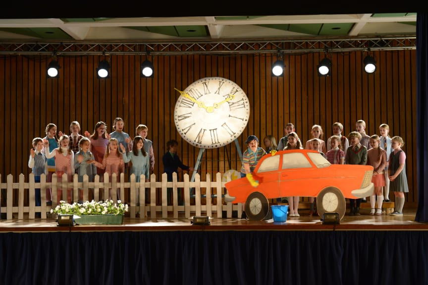 "Making-of. Szenenbild des TV-Spots ""Der Kinderchor"""