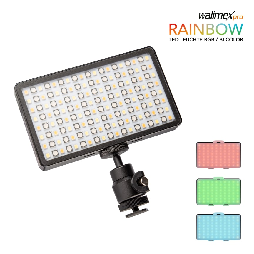 Walimex pro Rainbow Pocket RGBWW 23036 15 Kugelkopf