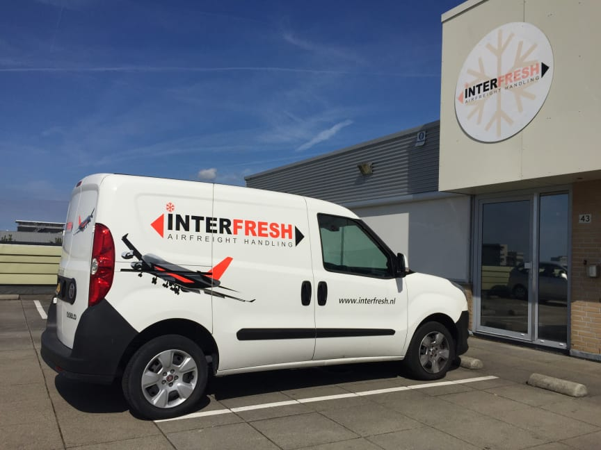 Interfresh delivery van in Amsterdam