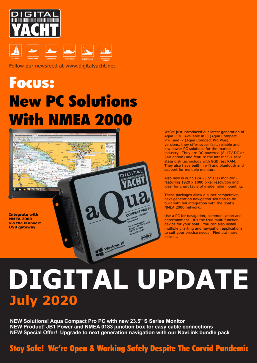 Digital Yacht Update July 2020 - Download Now!