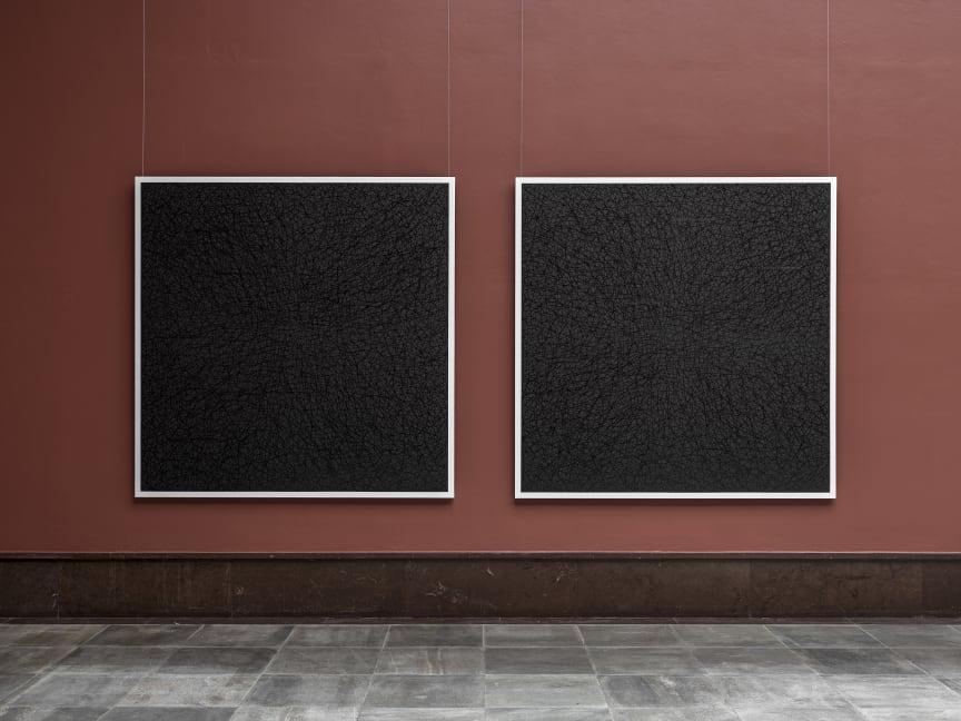Eternally Vanishing Bodies, olje på lerret, 203 cm x 203 cm x II (diptykon), 2007 Dag Erik Elgin / Et modernistisk punktum
