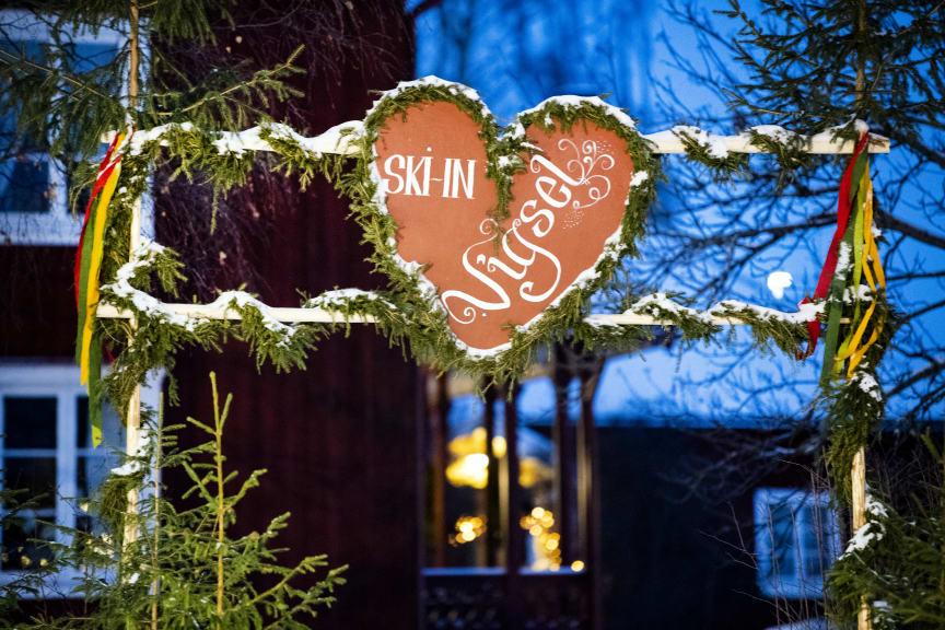 Ski in-vigsel i Vasaloppsmålet 2019