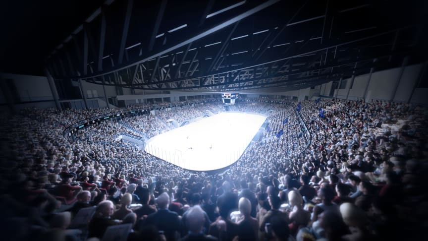 KLIMAVENNLIG: Nye Jordal Amfi skal kunne romme 5000 tilskuere uten at det merkes på inneklimaet (Illustrasjonsfoto: Hille Melbye Arkitekter/ Kultur- og idrettsbygg Oslo KF)