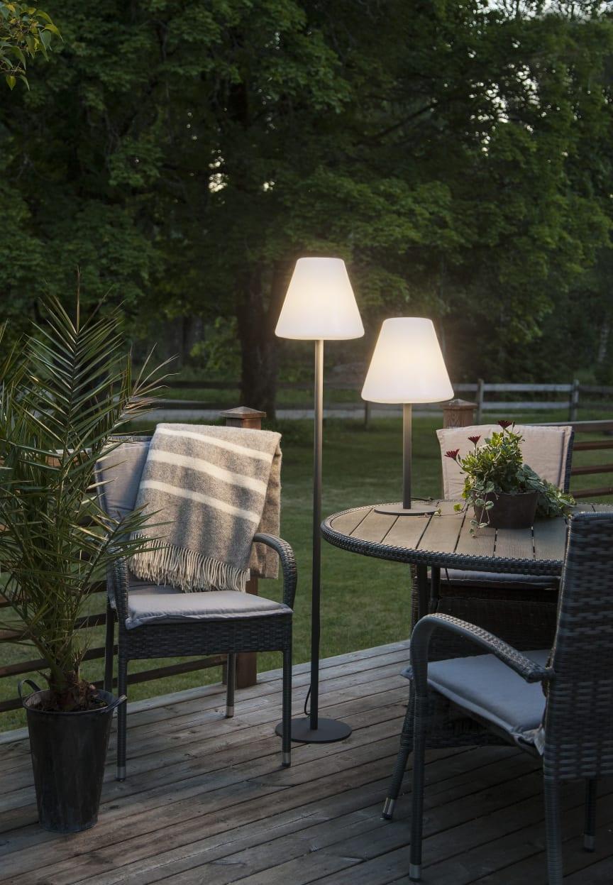 Golvlampa & bordslampa till uteplatsen