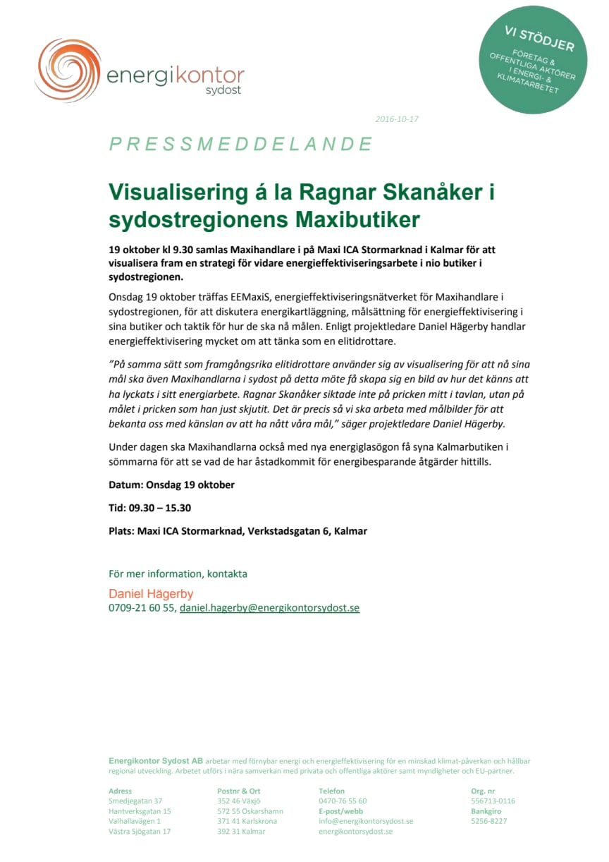 Visualisering á la Ragnar Skanåker i sydostregionens Maxibutiker