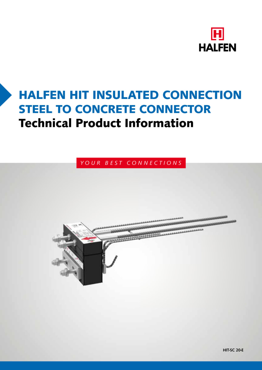 HIT Steel to concrete connection