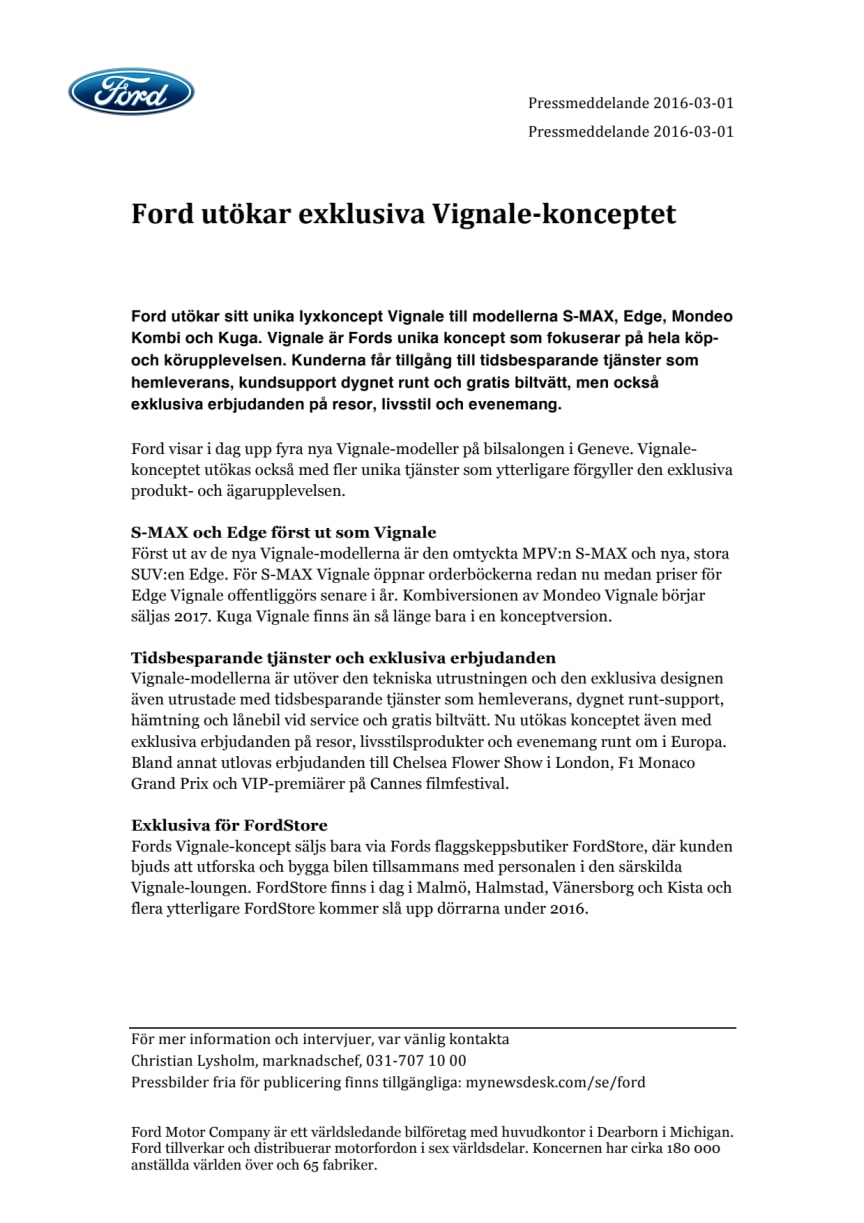 Ford utökar exklusiva Vignale-konceptet