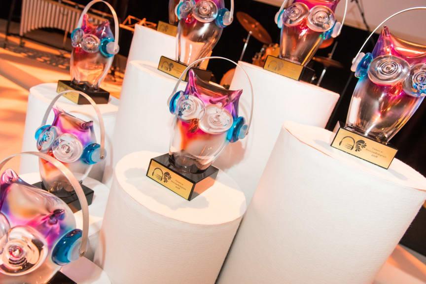 Storytel Awards, bild från galan 2018. (Foto: Ossian Langenborg)