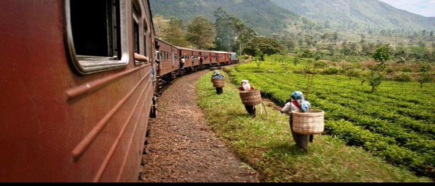Populär tågresa på Sri Lanka