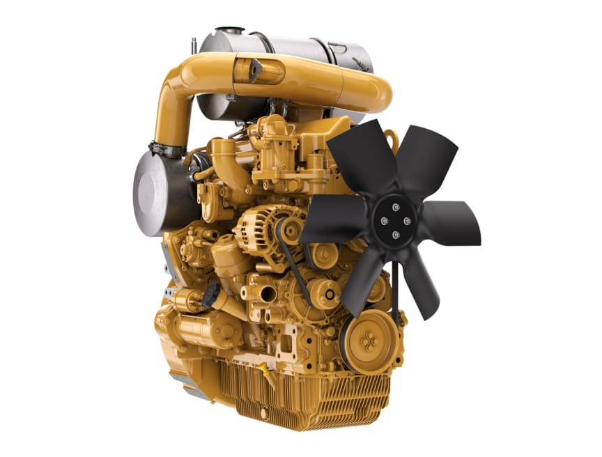 Motorn CAT C3.6 EU steg V med motormonterad avgasrening.