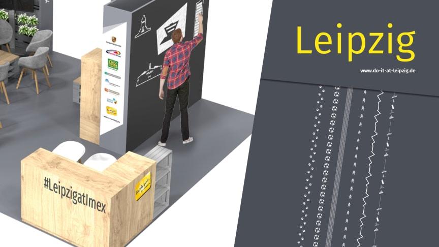 Grafik vom Leipzig-Stand auf der IMEX 2018