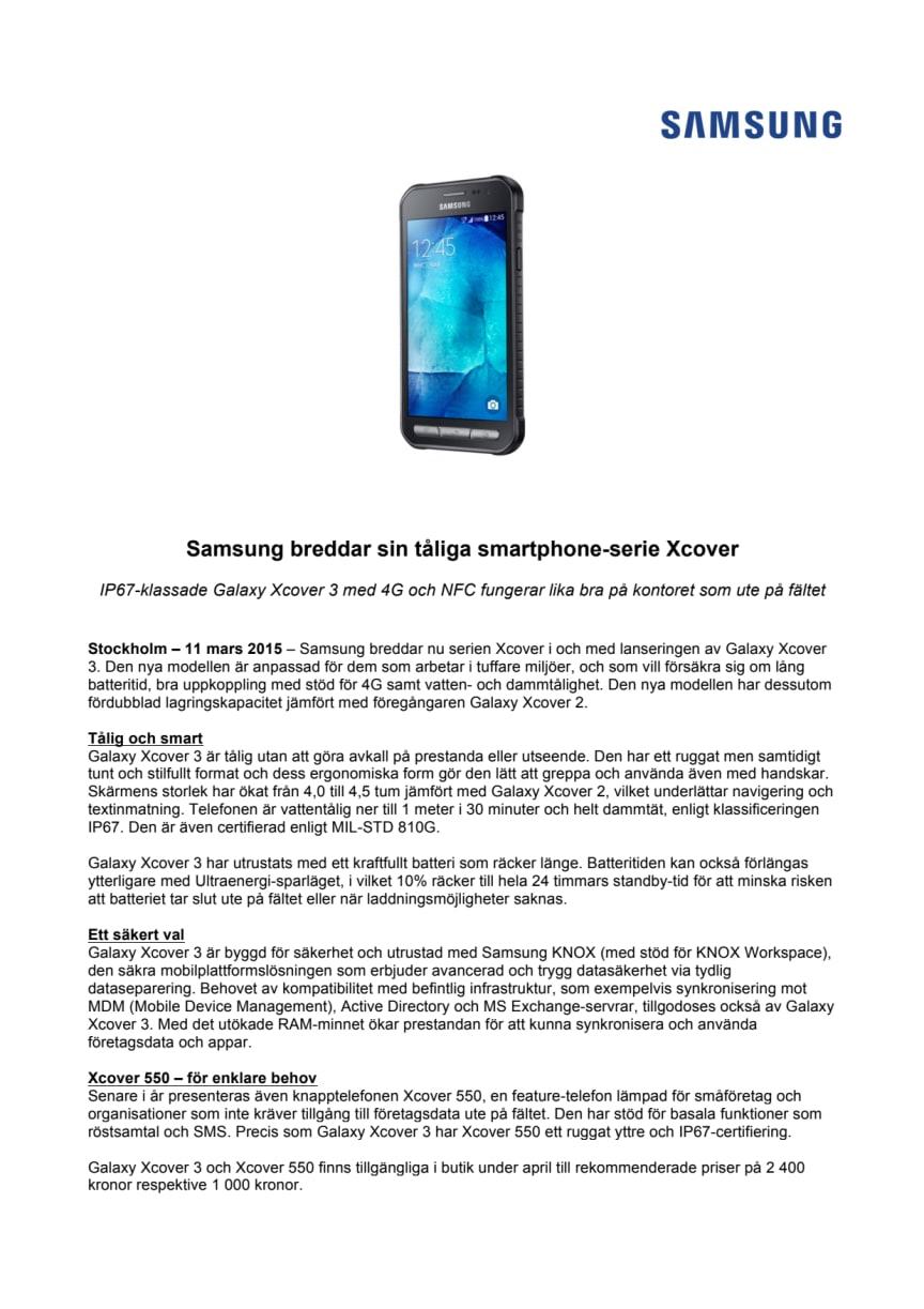 Samsung breddar sin tåliga smartphone-serie Xcover
