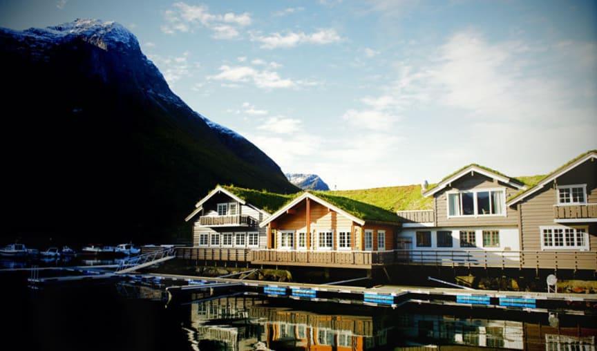 Fasad Saga Fjord Hotell