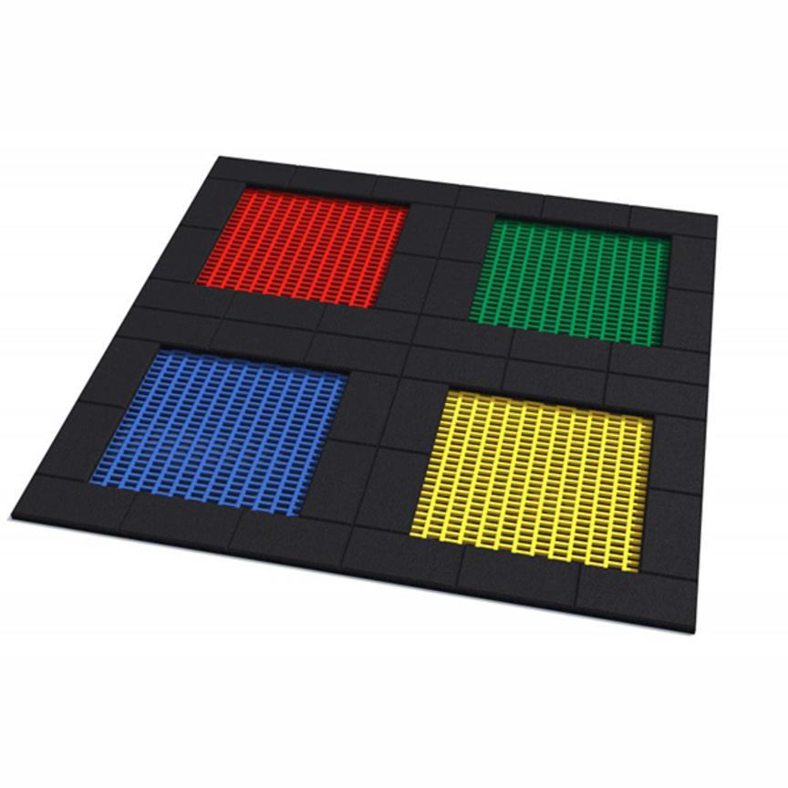 Kombination av kvadratiska trampoliner