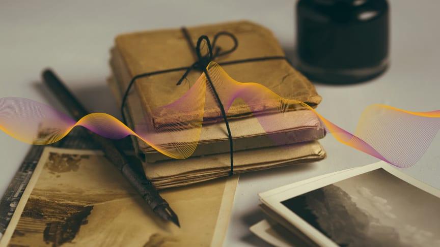 Gamla brev och foton