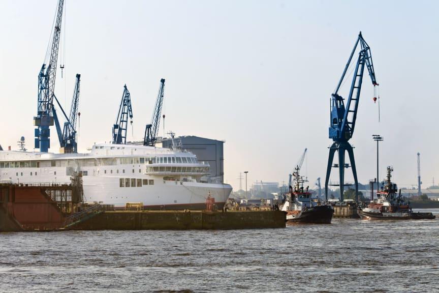 Det første GR-skib er ankommet til Hamburg_1