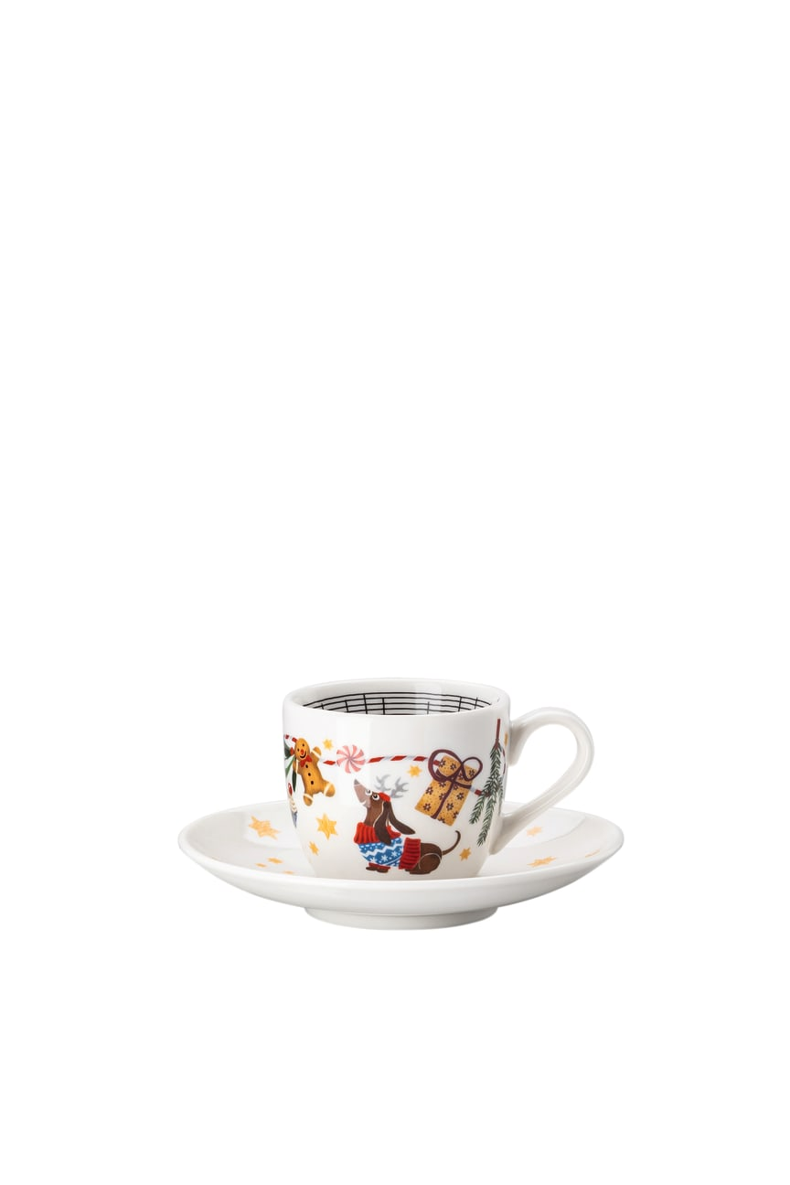 HR_'Morgen_kommt_der_Weihnachtsmann'_Espresso_cup_and_saucer