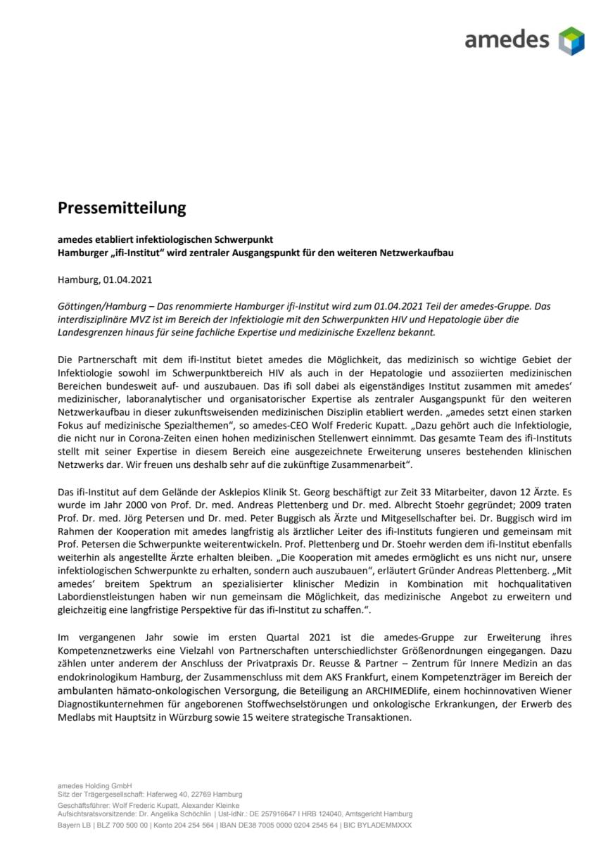 PM_Hamburger ifi Institut wird Teil der amedes-Gruppe.pdf