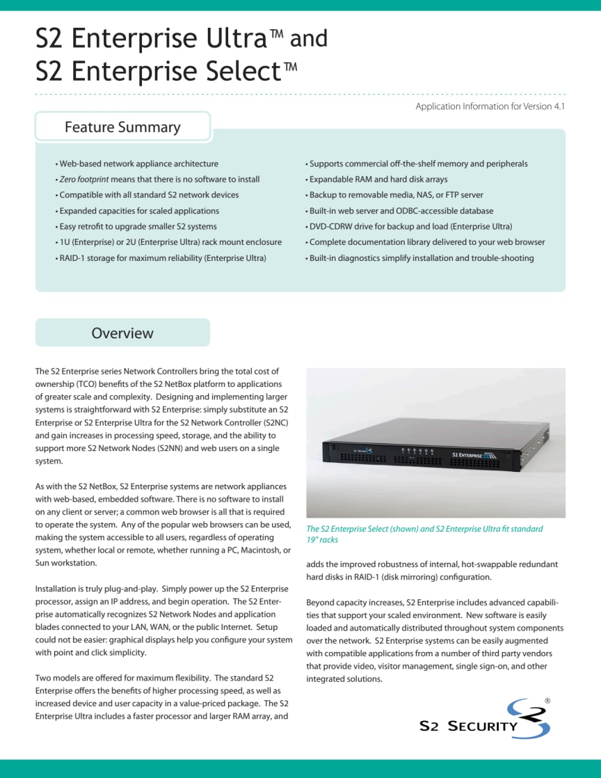 Passersystem från Gate Security - S2 Enterprise