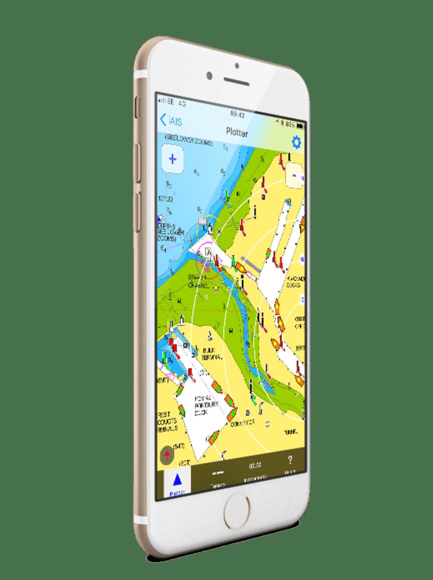 iPhone with iAIS app
