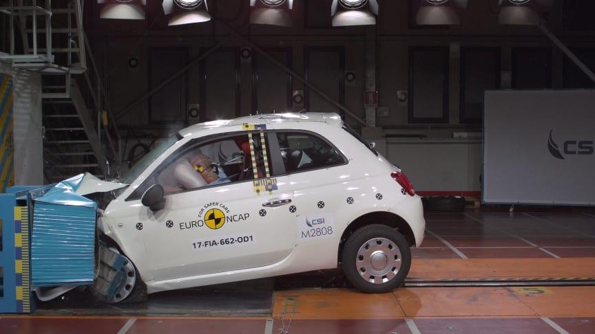 Fiat 500 Frontal Offset Impact Test 2017