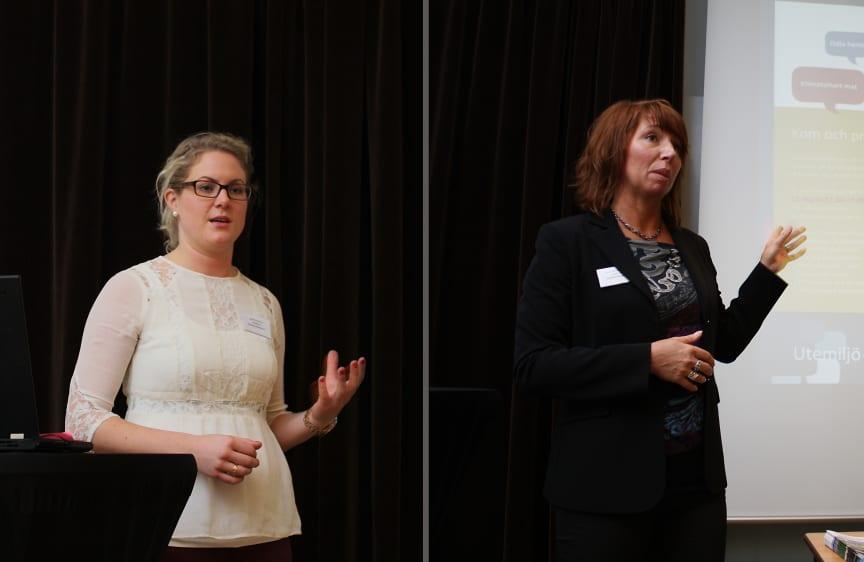Camilla Karlsson och Charlotte Kindmark från Eskilstuna Kommunfastigheter berättar om Lagersbergsprojektet