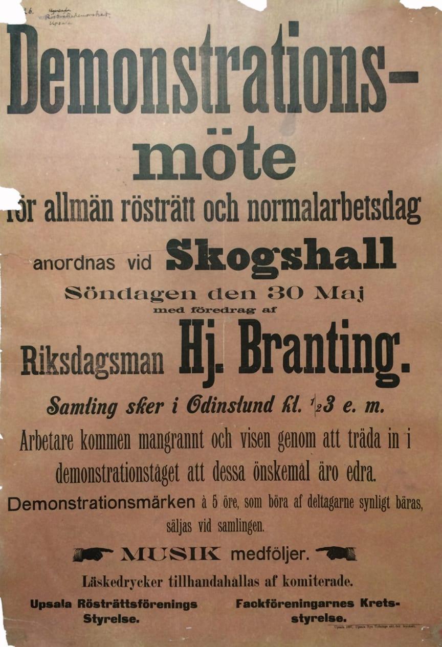 Demonstrationsaffisch från 1897