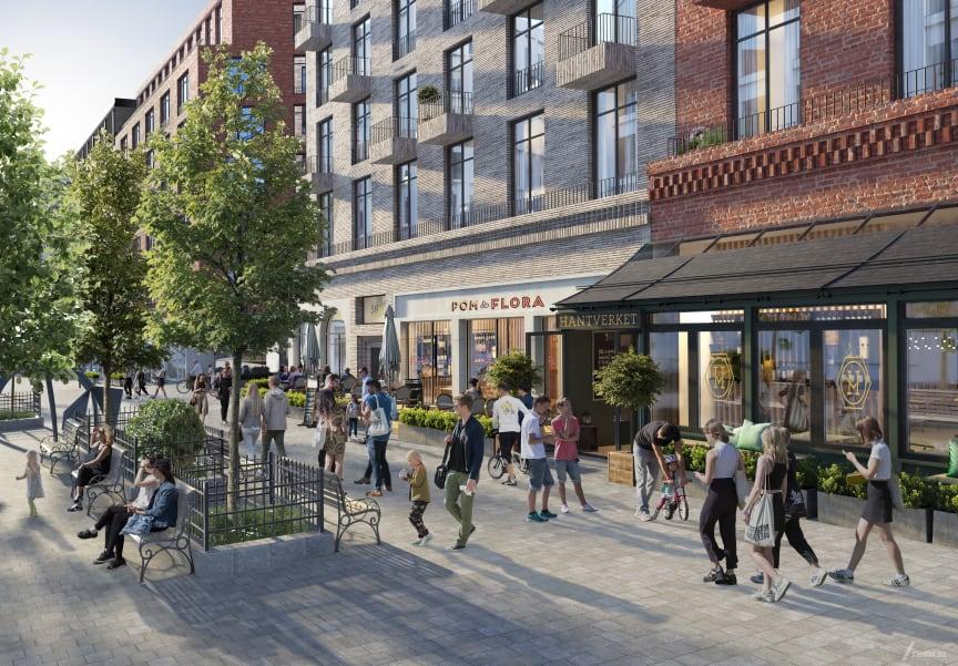 BRABO och Fabege har höga ambitioner på arkitektur och stadsliv i Haga Norra