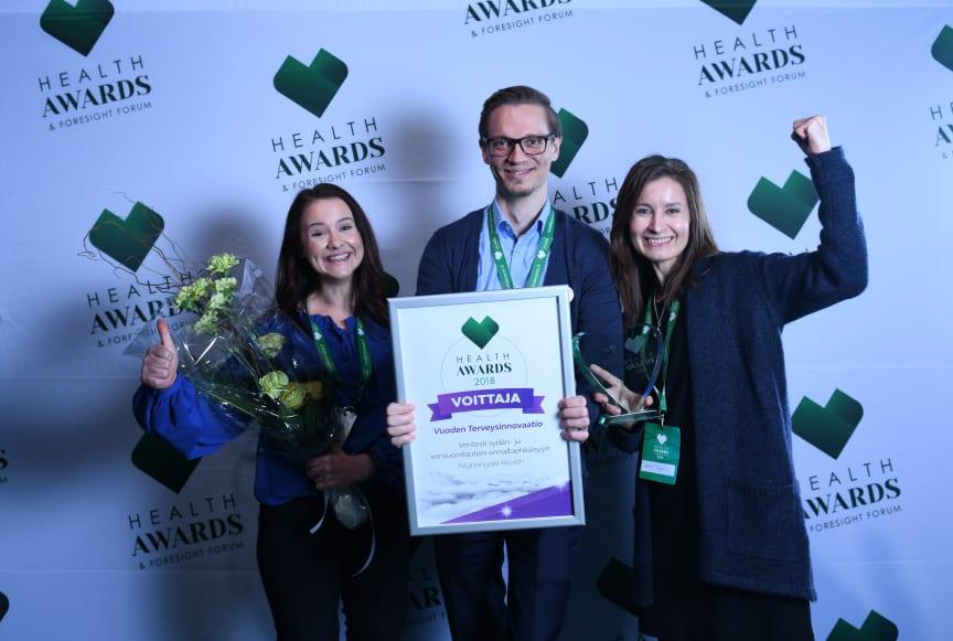 Nightingale Health on Health Awards 2018 -kilpailun Vuoden Terveysinnovaatio