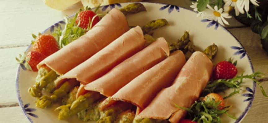 Skinkrulle med avokado