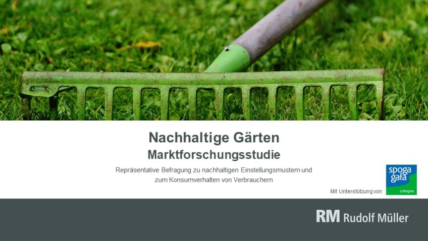 """Die neue Marktforschungsstudie """"Nachhaltige Gärten"""" basiert auf einer Verbraucherbefragung im Sommer 2020 und erfasst Einstellungen, Anschaffungsneigungen und das Verbraucherverhalten im Hinblick auf die Nachhaltigkeit bei Gartensortimenten."""