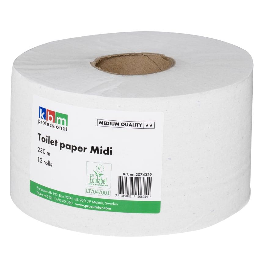 KBM Toalettpapper Midi 230m Kvalitet Medium