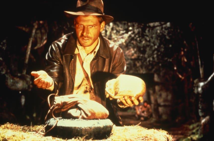 Harrison Ford er arkæologen Indiana Jones i Jagten på den forsvundne skat - stærkt instrueret af Steven Spielberg