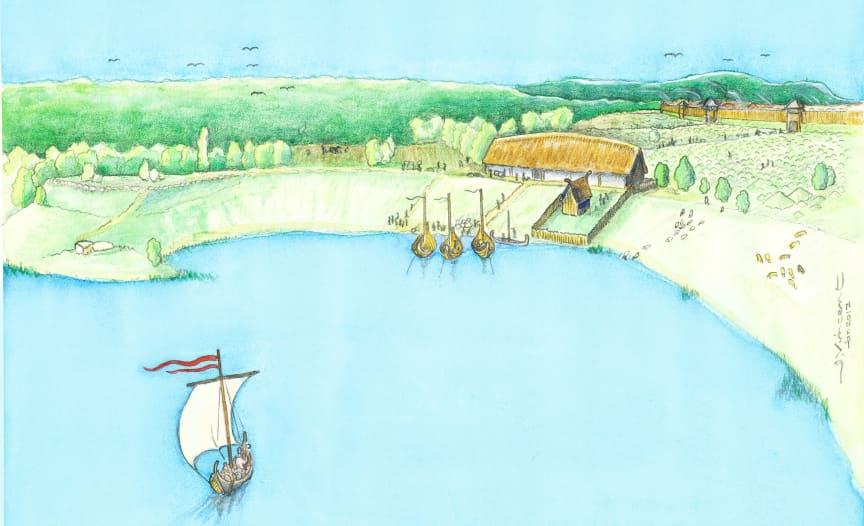 1 Reconstruction Viking age manor  (reconstruction by Jacques Vincent)