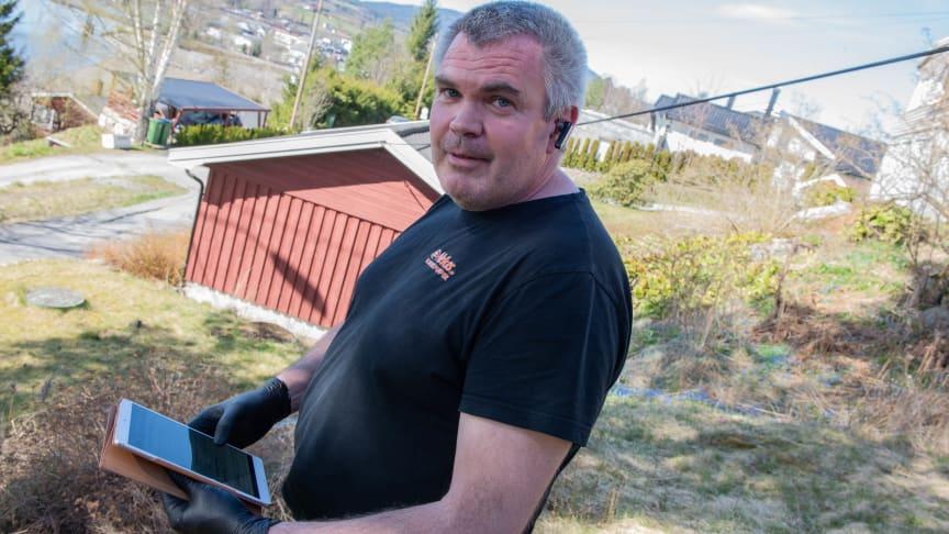 Richard Borgaard med iPad-en.