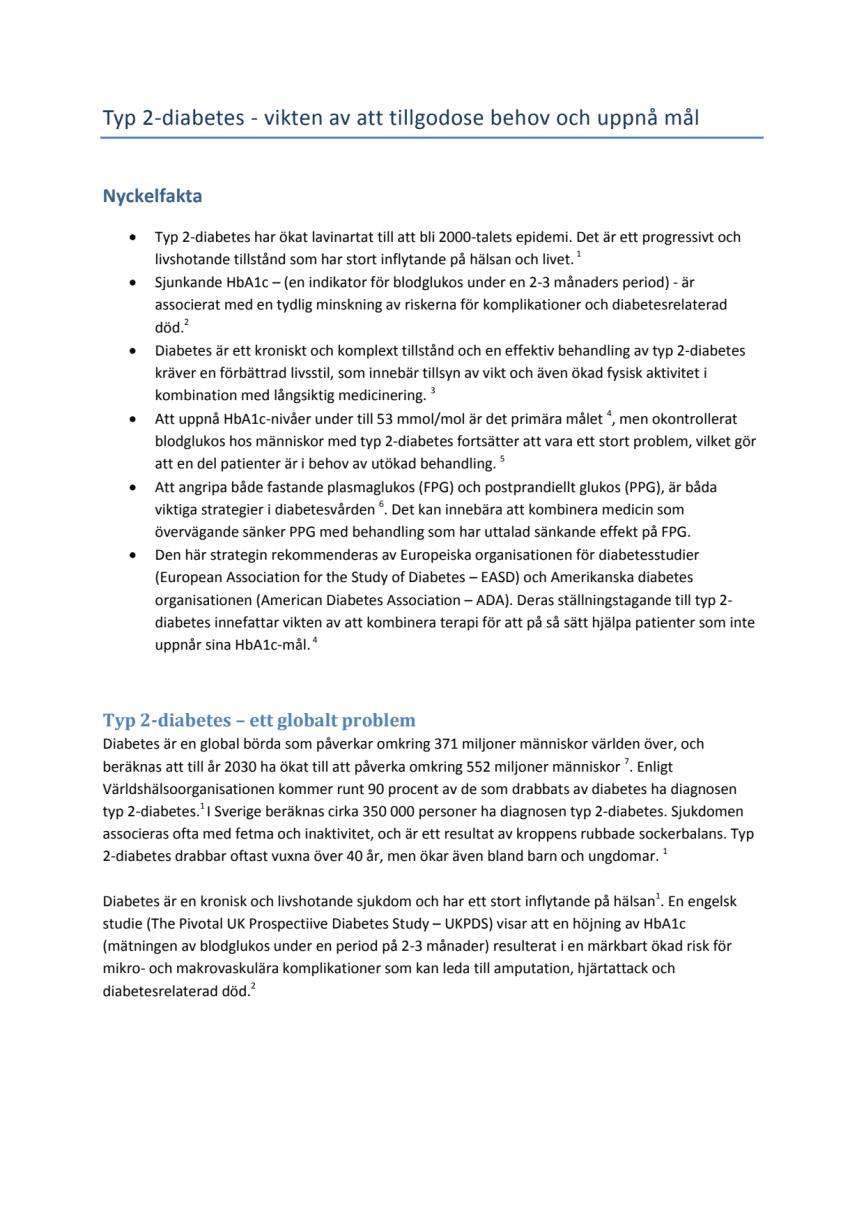 Bakgrundsmaterial diabetes och behandling LixiLan