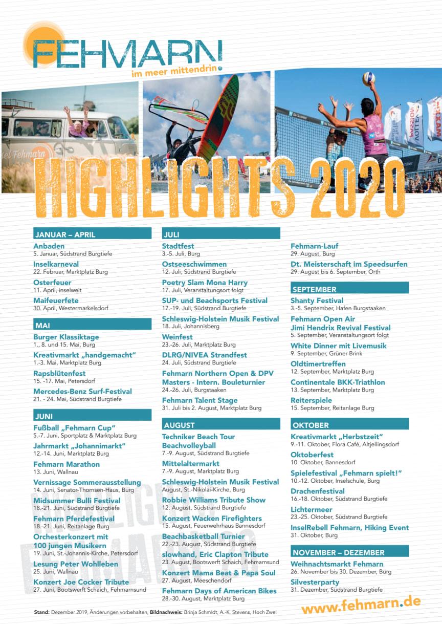 Fehmarn Highlights 2020