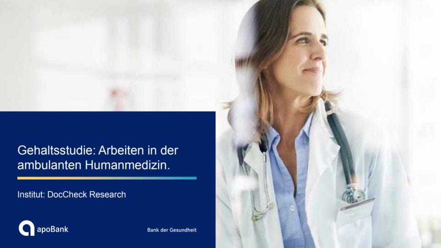 apoBank-Gehaltsstudie Humanmedizin 2021 - Spezial zu Teilzeit