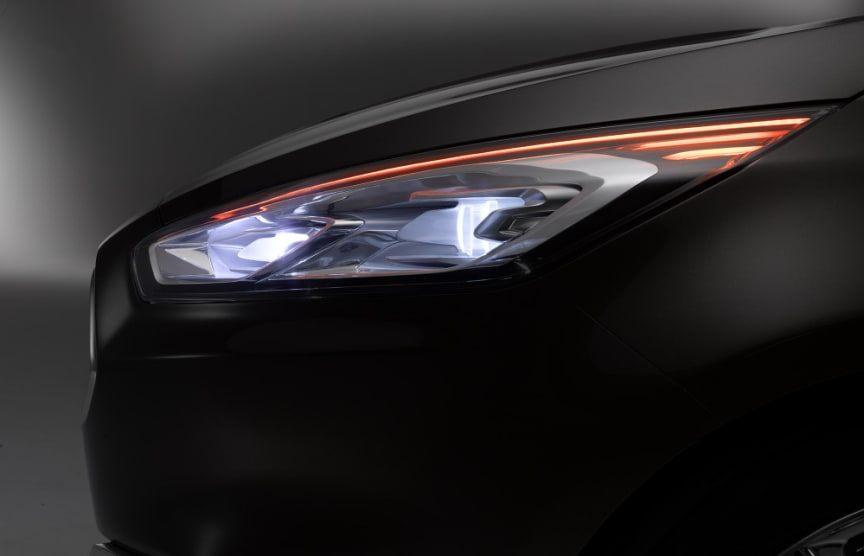 Nye Ford S-MAX Concept, frontlykt