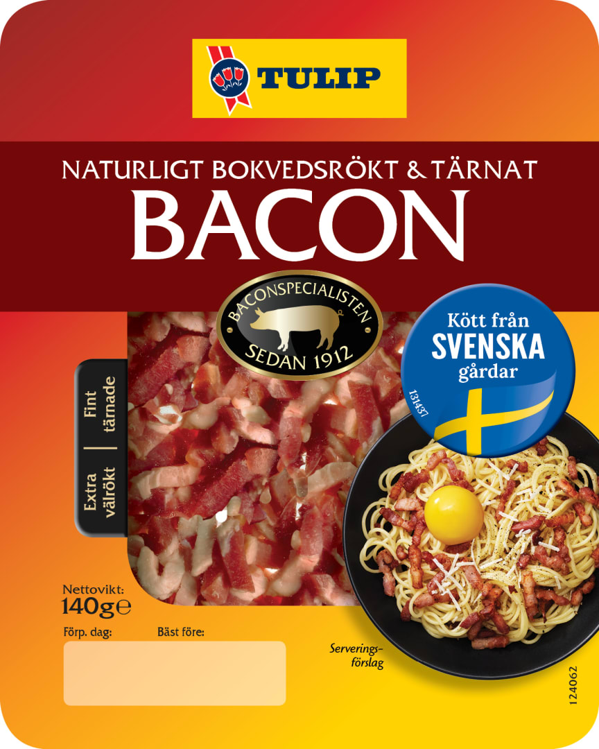 15365_Tulip Bacon_Kött från svenska gårdar_140g_tern_Onpack