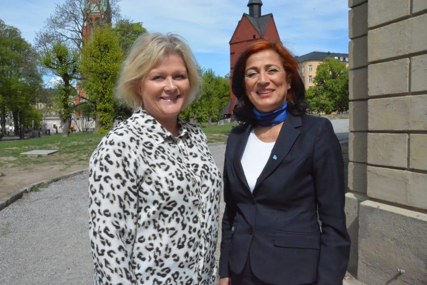Ulrica Messing, styrelseordförande och Maria Khorsand, vd.