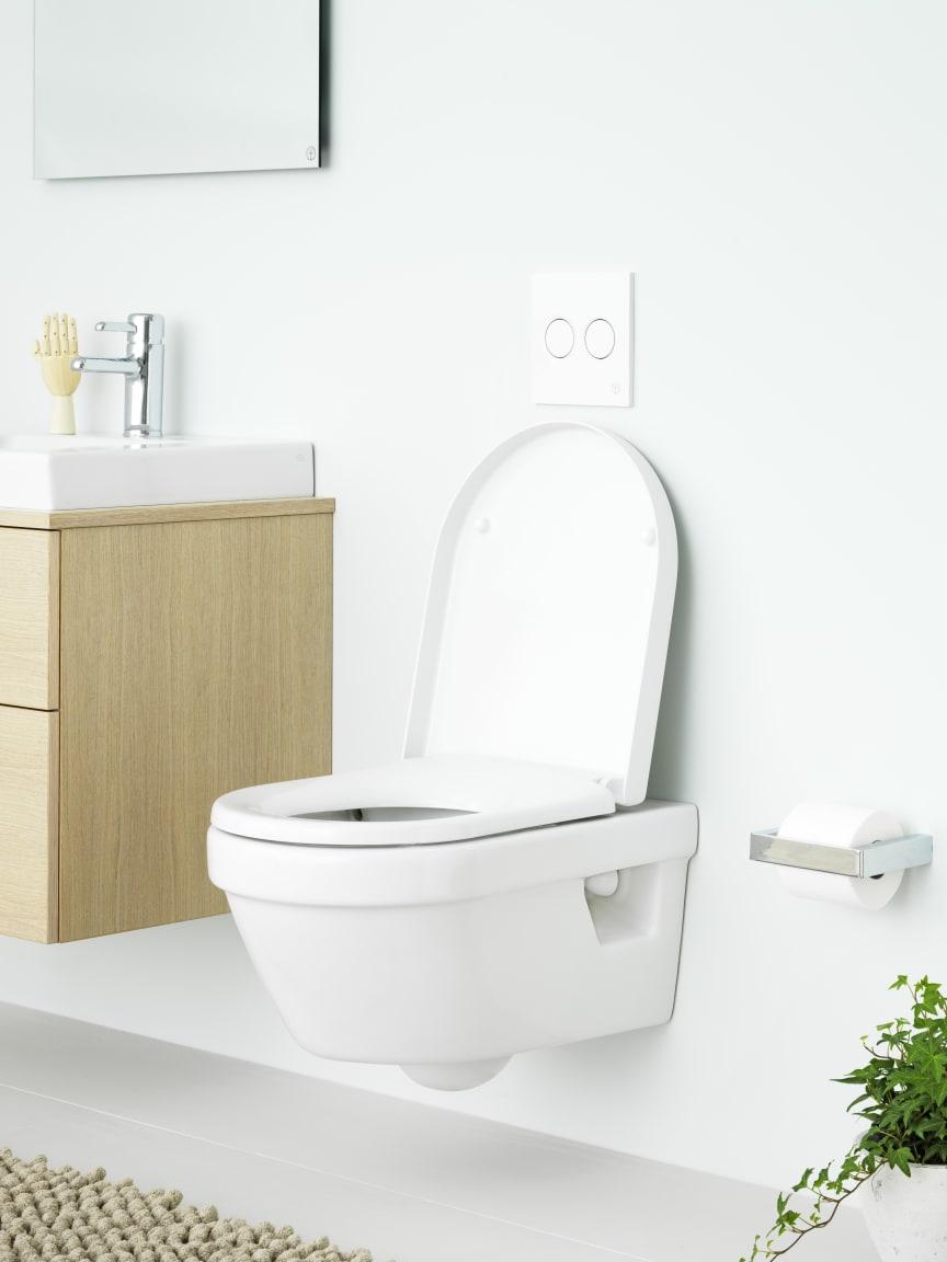 Hygienic Flush - vägghängd wc med öppen spolkant, miljö