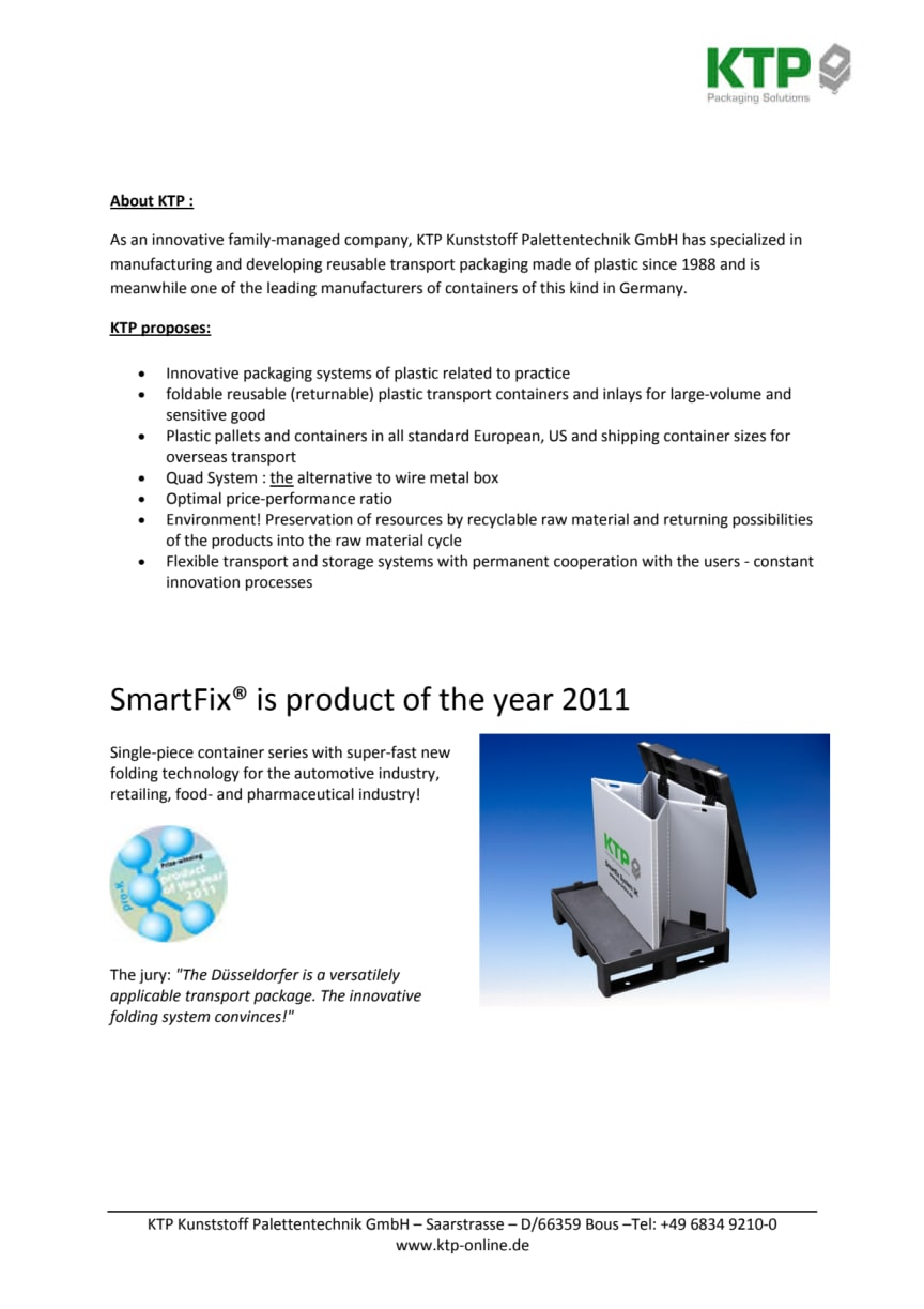 SmartFix® is product of the year 2011