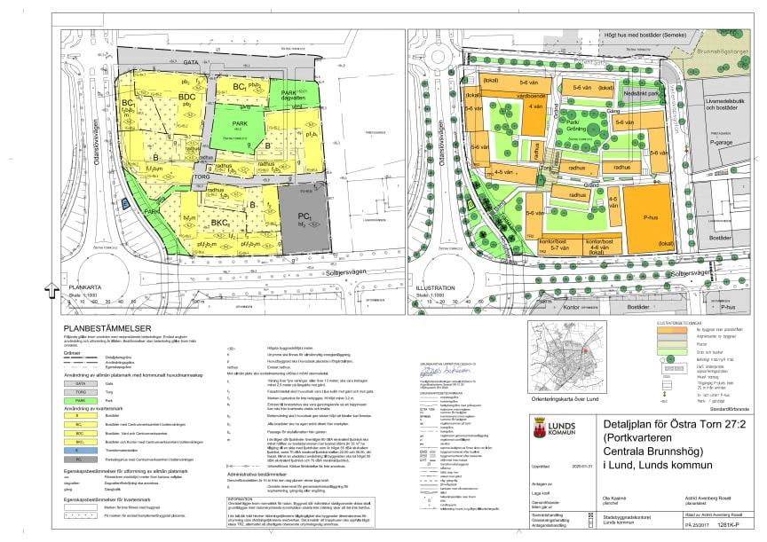 Plankarta för Portkvarteren